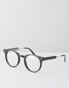 Круглые очки с прозрачными стеклами Spitfire - Черный