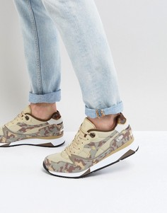 Бежевые камуфляжные кроссовки Diadora V7000 - Бежевый