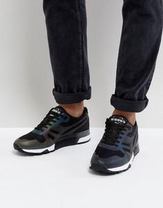 Черные кроссовки с голографическим эффектом Diadora N9000 MM - Черный