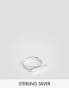 Серебряное кольцо с геометрическим дизайном ASOS - Серебряный