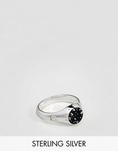 Серебряное кольцо с печаткой и камнем ASOS - Серебряный