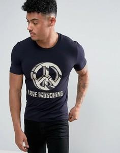Черная футболка с логотипом Love Moschino - Черный