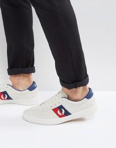 Бежевые замшевые кроссовки Fred Perry B1 - Белый