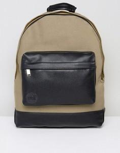 Черно-зеленый парусиновый рюкзак с мятым эффектом Mi-Pac - Зеленый