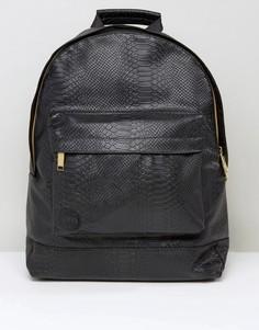 Черный рюкзак с эффектом кожи питона Mi-Pac - Черный