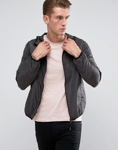 Фестивальная нейлоновая куртка на молнии Brave Soul - Серый