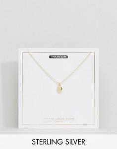 Позолоченное ожерелье с подвеской Близнецы Johnny Loves Rosie - Золотой