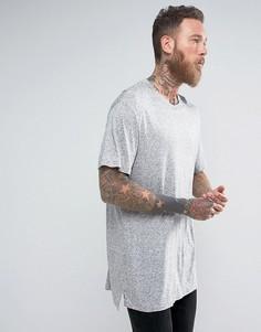 Удлиненная футболка AllSaints - Серый