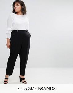 Черные брюки с пряжкой Elvi - Черный