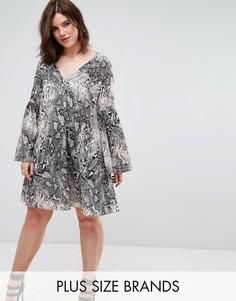 Платье с принтом Elvi - Мульти