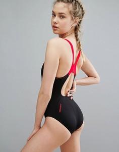 Слитный купальник Speedo Boom Splice Muscleback - Черный