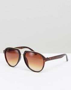 Круглые солнцезащитные очки-авиаторы 7X - Коричневый