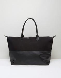 Парусиновая дорожная сумка черного цвета Mi-Pac - Черный