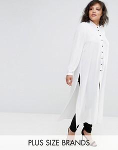 Белая длинная рубашка Elvi - Белый