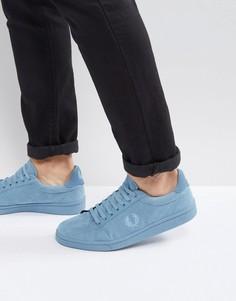Синие хлопковые кроссовки Fred Perry B721 - Синий