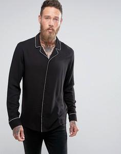 Рубашка в пижамном стиле AllSaints - Черный