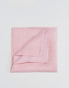 Фактурный платок для пиджака в горошек ASOS - Розовый