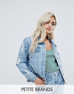 Декорированная джинсовая куртка Glamorous Petite - Синий