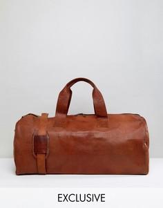Светло-коричневая кожаная сумка Reclaimed Vintage Inspired - Рыжий