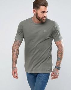 Свободная длинная футболка G-Star - Зеленый