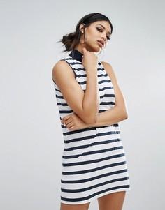 Свободное платье в полоску с воротником-стойкой Daisy Street - Черный