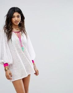 Пляжное платье с декоративной отделкой Pitusa - Белый