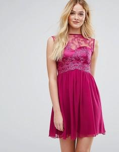 Платье для выпускного с контрастным кружевом Little Mistress - Кремовый