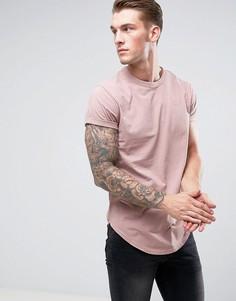Свободная футболка G-Star - Розовый