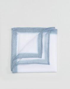 Льняной платок для нагрудного кармана ASOS - Синий