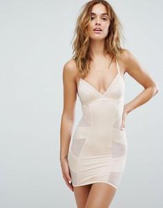 Моделирующее платье-комбинация New Look Solutions - Бежевый