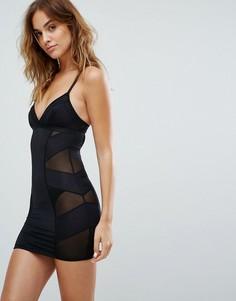 Моделирующее платье-комбинация New Look Solutions - Черный
