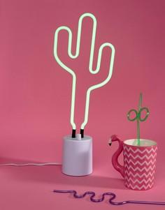 Большой неоновый светильник в виде кактуса Sunnylife - Мульти