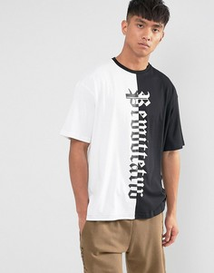 Черно-белая футболка New Look - Белый