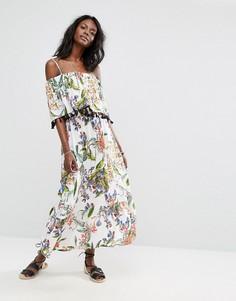 Платье макси с цветочным принтом Boohoo - Белый