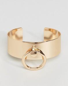 Массивный браслет с пряжкой DesignB - Золотой