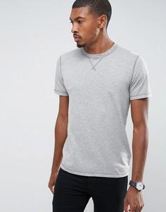 Серая футболка Abercrombie & Fitch - Серый