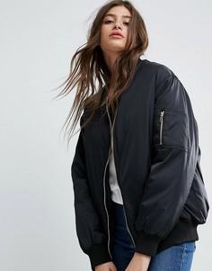 Oversize куртка-пилот ASOS - Черный