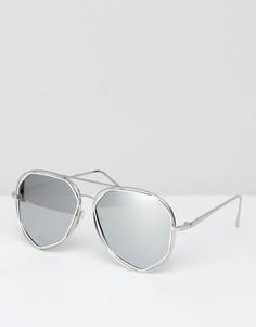 Солнцезащитные очки-авиаторы с белыми зеркальными стеклами AJ Morgan - Белый
