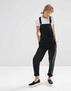 Черный джинсовый комбинезон ASOS - Черный
