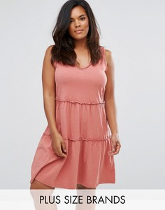 Трикотажное платье без рукавов Junarose - Розовый