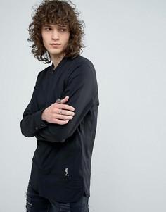Строгая приталенная рубашка с воротником на пуговице Religion - Черный