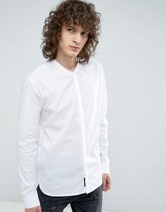 Строгая приталенная рубашка с воротником на пуговице Religion - Белый