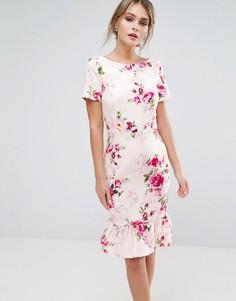 Платье миди с цветочным принтом Paper Dolls - Мульти