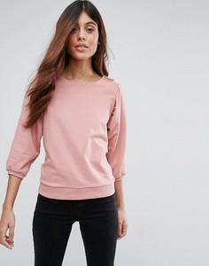 Свободный свитшот Vero Moda - Розовый