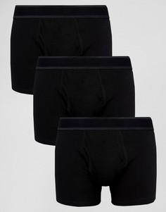 Комплект из трех боксеров Burton Menswear - Черный