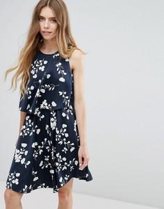 Ярусное платье с цветочным принтом Vila - Мульти