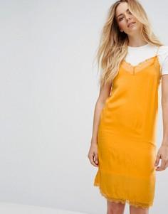 Платье-футболка на бретелях Vila - Мульти