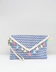 Пляжный клатч с кисточками South Beach - Синий