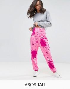 Гаремные брюки с принтом тай-дай ASOS TALL - Мульти