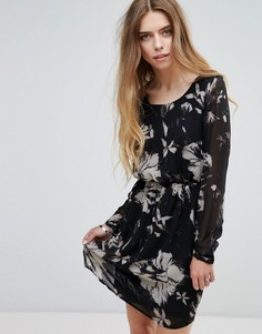 Трикотажное платье с цветочным принтом Vila - Мульти